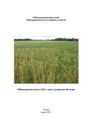 Põllumajandussektori 2011. aasta esimese poolaasta ülevaade