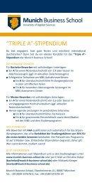 MBS Triple A-Stipendium - WiWi-Online