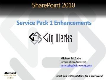 SharePoint 2010 SP1 - Gig Werks