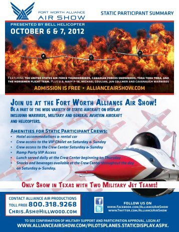 Please click here for information - Fort Worth Alliance Air Show
