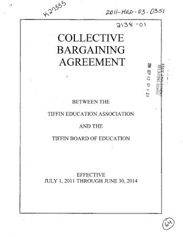Collective Bargaining Agreement Pacifica School District