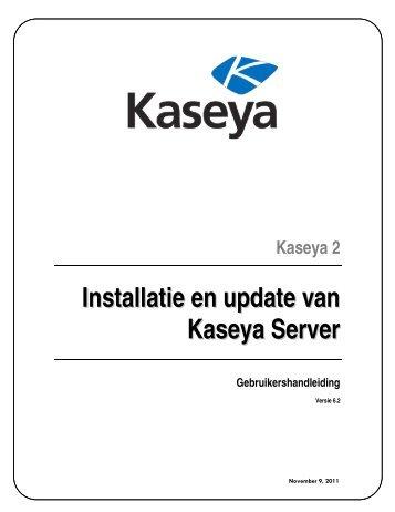 Installatie en update van Kaseya Server
