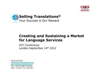 Selling Translations® - Association of Translation Companies