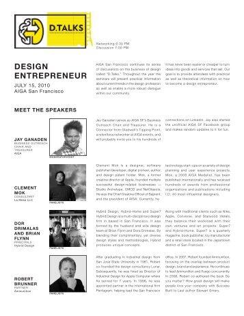 Design Entrepreneur Handout - AIGA San Francisco