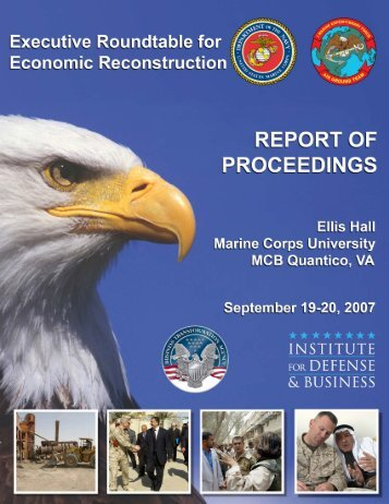 Download PDF Report of Proceedings - Institute for Defense ...