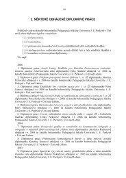 Obhájené diplomové práce - Pf UJEP