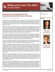 Newsletter - Bradley Arant Boult Cummings LLP