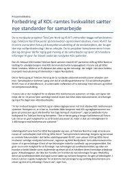 Forbedring af KOL-ramtes livskvalitet sætter nye standarder for ...