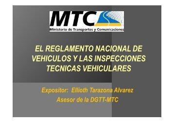 el reglamento nacional de vehiculos y las inspecciones tecnicas