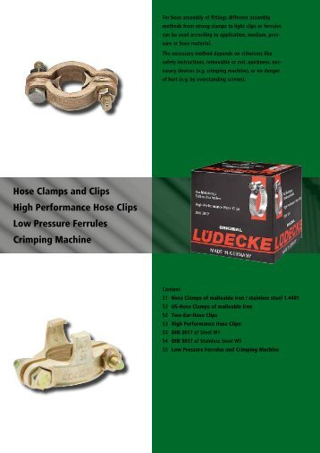 Hose Clamps,- Clips and Ferrules