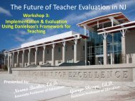 The Future of Teacher Evaluation in NJ