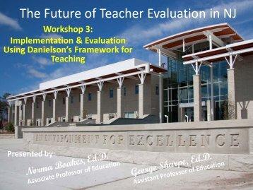 The Future of Teacher Evaluation in NJ