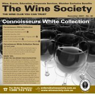 Connoisseurs Selection January 2008 - White - The Wine Society