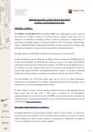 programación campus de baloncesto futbol club ... - FC Barcelona