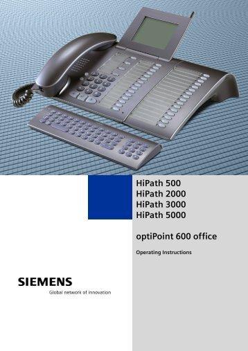 siemens optipoint 500 entry manual