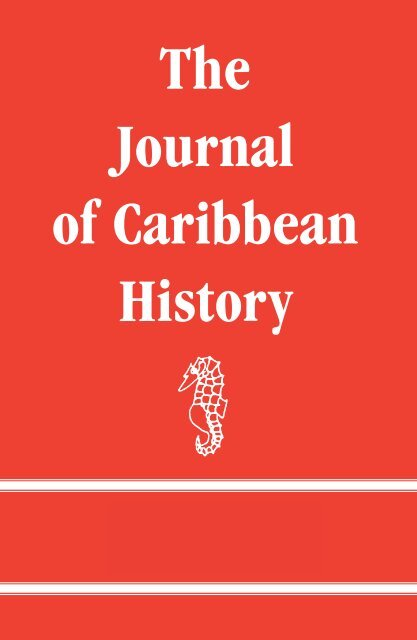 foto de The Journal of Caribbean History - The University of the West ...