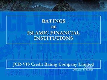 Presentation - JCR-VIS Credit Rating Co. Ltd.