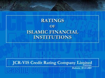 Presentation - JCR-VIS Credit Rating Co. Ltd.