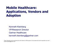 Mobile Healthcare: Applications, Vendors and Adoption - HiMSS