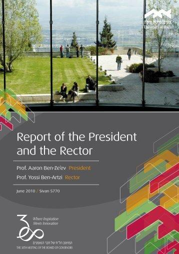 Report of the President and the Rector - Uni-haifa.de