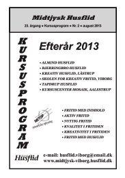 Kursusprogram efterår 2013 - Husflidsmessen Kreativ Fritid