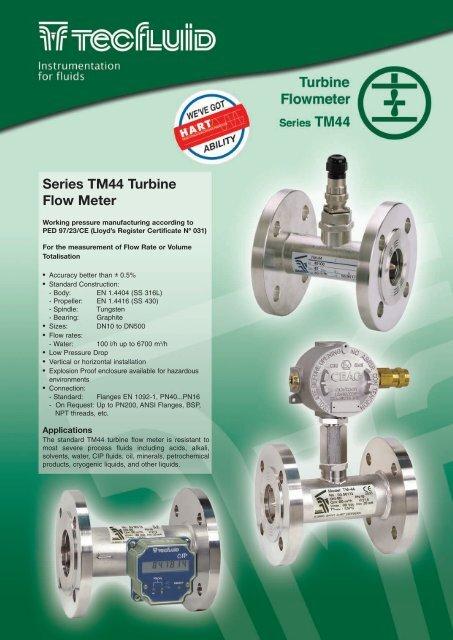 Series TM44 Turbine Flow Meter