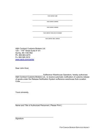 application letter for customs broker - Akba.greenw.co