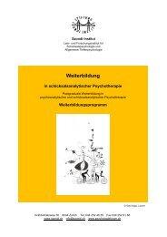 Weiterbildung - Szondi-Institut