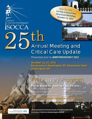 Preliminary Program - socca