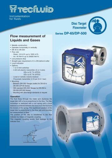 Flow measurement of Liquids and Gases