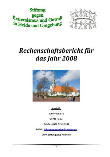 Rechenschaftsbericht 2008 web