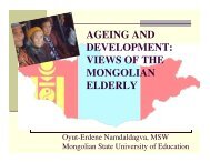 Presentation on Ageing and Development in Mongolia