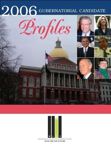 Gubernatorial Profiles - Massachusetts League of Environmental ...