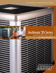 Acclimate™ 3S Series High Efficiency Heat Pumps - Luxaire