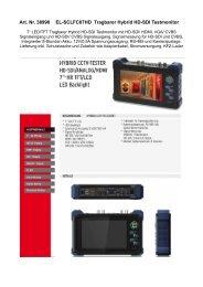 Art. Nr. 38990 EL-SCLFC07HD Tragbarer Hybrid HD-SDI Testmonitor