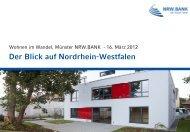 Wohnen im Wandel - der Blick auf NRW
