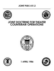 JP 3-01.2 Joint Doctrine for Theater Counterair ... - NPS Publications