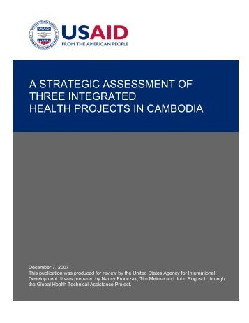 A Strategic Assessment of Three Integrated Health Projects in ...