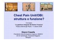 Casella G., Chest Pain Unit/OBI: struttura o funzione? - Anmco