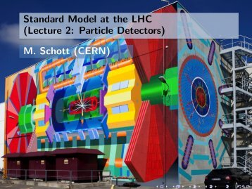 Standard Model at the LHC (Lecture 2: Particle Detectors) M. Schott ...