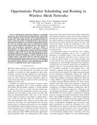 Opportunistic Packet Scheduling and Routing in Wireless Mesh ...