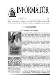 Informátor - Slovenská archeologická spoločnosť