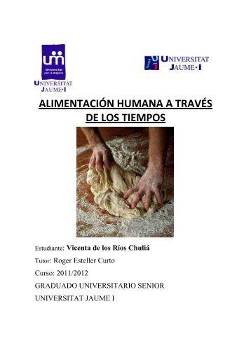 alimentación humana a través de los tiempos - Universitat per a ...