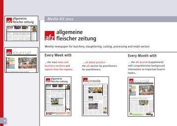 journal - fleischwirtschaft.com - Allgemeine Fleischer Zeitung