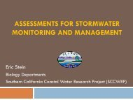 assessments for stormwater monitoring and management