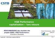 Résultats - Evaluation environnementale Test 2010 HQE Performance