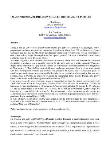 Template PME28 - Associação de Professores de Matemática