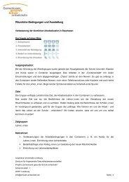 Räumliche Bedingungen und Ausstattung - Gemeinsam gesunde ...