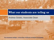 What our students are telling us - The Graduate College at Illinois