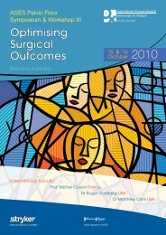 Optimising Surgical Outcomes Optimising Surgical Outcomes - AGES